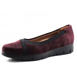 Zapato Daelyn Hill burdeos