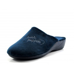 Zapatilla Hush Puppies Sleep Alba azul