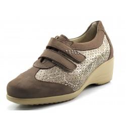 Zapato Drucker mercedes metalizada velcros