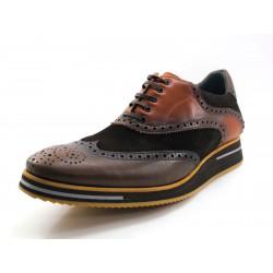Zapato Angel Infantes combinado marrón
