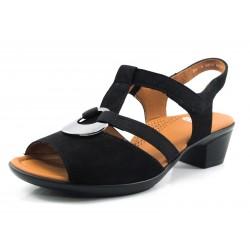 Sandalia color negro Ara chapa