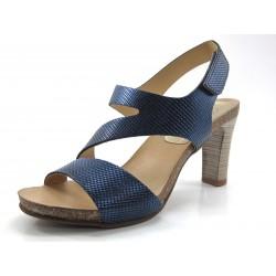 Sandalia Penelope cruces azul