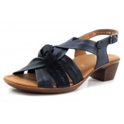 Sandalia Ara nudo azul