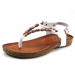 Sandalia Porronet abalorios marrón