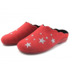 Zapatilla de hogar Lozoya estrellas rojo