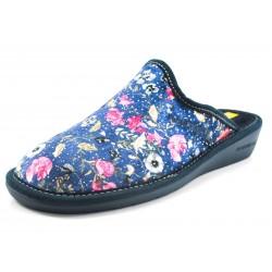 Zapatillas Nordikas flores azul