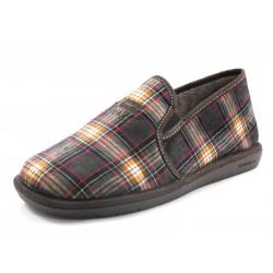 Zapatillas Nordikas cuadros marrón