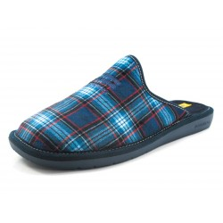 Zapatillas Nordikas cuadros azul