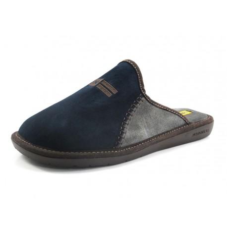 Zapatillas Nordikas pespuntes azul