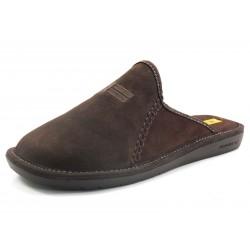 Zapatillas Nordikas pespuntes marrón