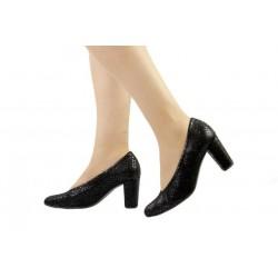 Zapatos Pie Santo salón negro