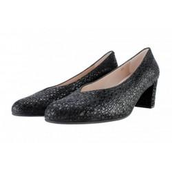 Zapatos Pie Santo salón pico negro