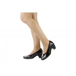 Zapatos Pie Santo salón elástico negro