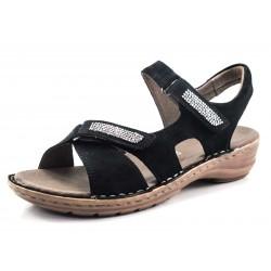 Sandalias de Vestir Para Mujer color negro ancho G