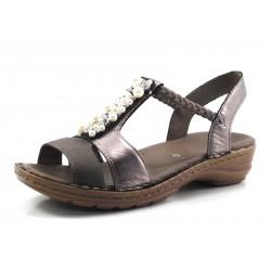 Sandalias de Vestir para mujer ancho G color gris