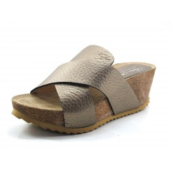 Mules con cuña color taupe Penelope Collection