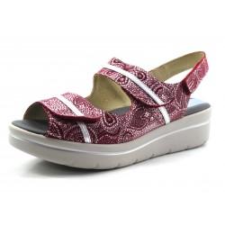 Sandalia Drucker roja pies delicados
