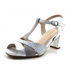 Sandalias plata Pie Santo con ancho especial