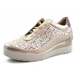 Zapatos de mujer con cordones Stonefly platino