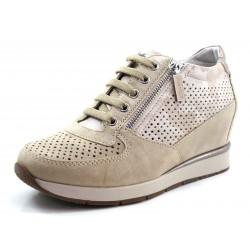 Zapatos de mujer con velcros Stonefly taupe