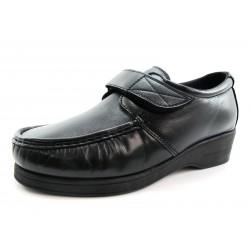 Zapatos Wallaby Pinoso's Velcro Negros Pie Diabético