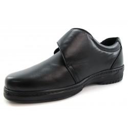 Zapatos Pinoso's Velcro Negro Pie Diabético