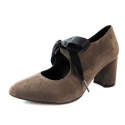 Zapatos Lazada Barminton Marrón Grisáceo