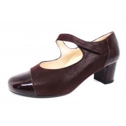 Zapatos Salón Velcro Drucker Burdeos