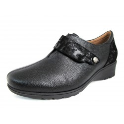 Blucher Velcro PieSanto Negro