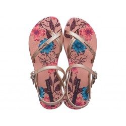 SANDALIAS IPANEMA ROSA ESTAMPADA FASHION CON TALON