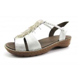 Sandalia Ara plata adornos