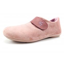 Zapatilla Garzon velcros color rosa