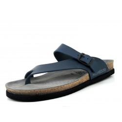 Sandalias de cuero para hombre color azul Niels
